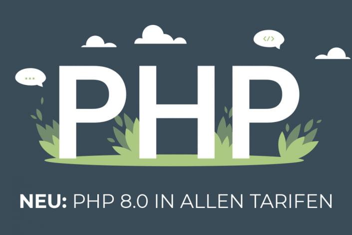 PHP 8.0 in allen Webhosting-Tarifen